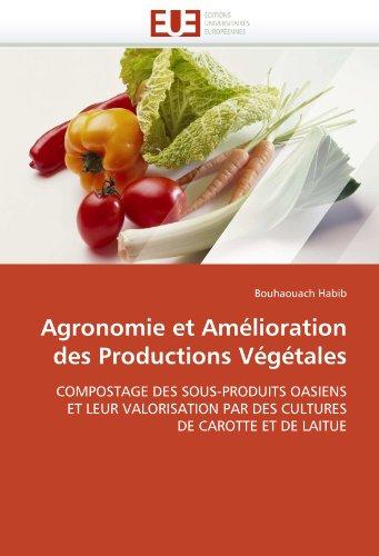 Agronomie et amélioration des productions végétales