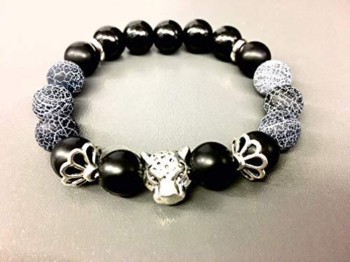 Tiger-Perlenarmband Gold oder Silber | Rock | Rockabilly | Buddha-Beads