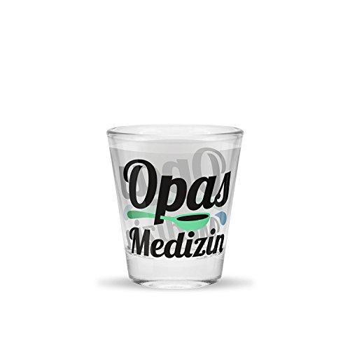 Sheepworld Schnapsglas Motiv Opas Medizin