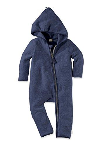 hessnatur Fleece Overall aus reiner Bio-Baumwolle GOTS dunkelblau 86/92