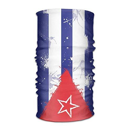 RGFJJE Sturmhauben Men&Women Cuba Flag Grunge Sports&Casual 12-in-1 Bandanna Headwear Scarf Wrap Neck Gaiters Headband Helmet Liner Balaclava for Running,Yoga,Hiking | 06468358565628