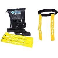 Mundo deporte Rugby etiqueta cinturones ★ Juego de 10Cinturones y 20etiquetas ★ ★ disponible en 4colores 2tamaños, amarillo