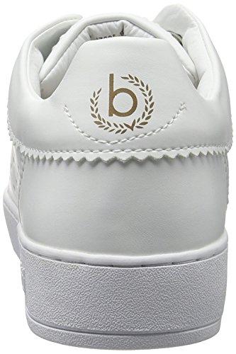 Bugatti J7605pr6n, Scarpe da Ginnastica Basse Donna, Bianco Bianco (Weiss / Gold 235)