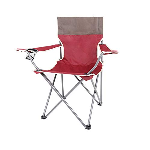 CHLGZHDY Table Pliante en Plein air Tabouret de pêche Portable Chaise Lounge Loisir Chaise de Plage Déjeuner Pause Croquis Chaise Alignée Up Table Mazar en Aluminium Chaise Rouge (Taille : Chair)