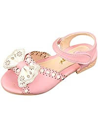 b50336d7ae56b Malloom Niñas Infantiles Bowknot Princesa Ballet Fiesta Sandalias Zapatos  Casuales de la Boda