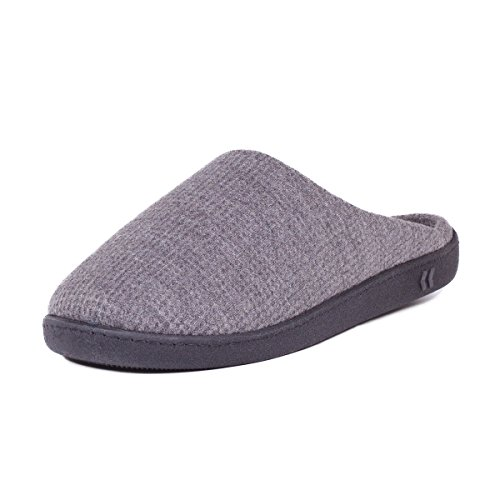 isotoner-textured-pillowstep-mule-slippers-charcoal-grey-large-uk-10-11