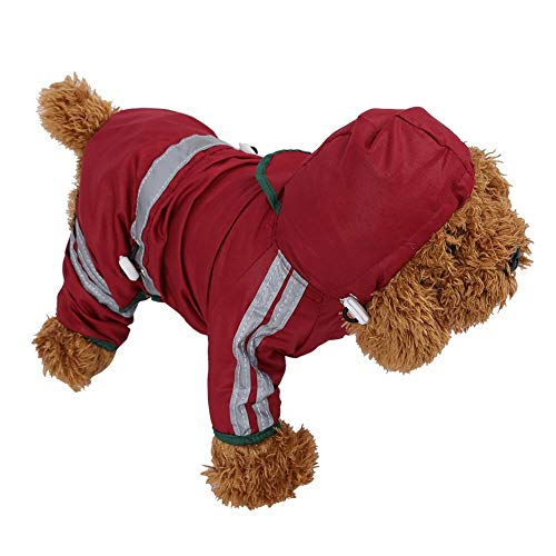 Fdit Impermeable para Perros de Mascota Chubasqueros para Medianas Perros con Capucha...