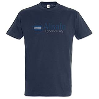 Allsafe Cybersecurity T-Shirt - Fsociety Hacker TV Evil E Corp Mr. Robot Sizes S - 5XL (XXXL)