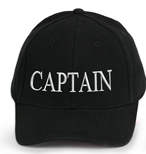 4sold 100% Cotton Ancient Mariner, Captain Cabin Boy Crew First Mate Yachting Baseball Cap Inscription Lettering Black White