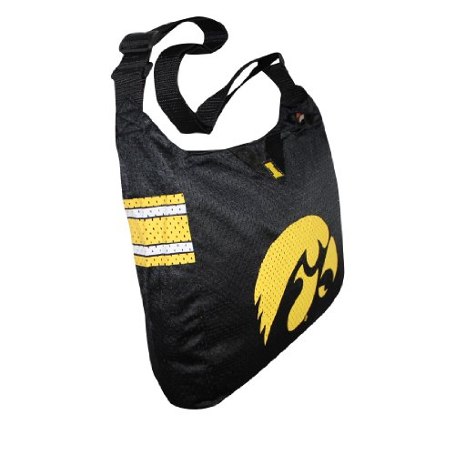 COLLECTIONNEUR ITEM: NCAA Iowa Hawkeyes Large Tote / Umhängetasche -noir