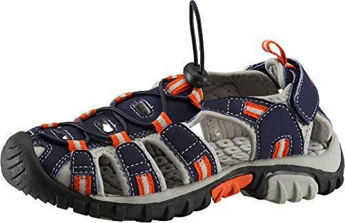 McKINLEY Unisex-Kinder Vapor II Jr. Trekking- & Wanderhalbschuhe, Blau (Navy Dark/Grey/Red 923), 34 EU Red Nubuck Schuhe