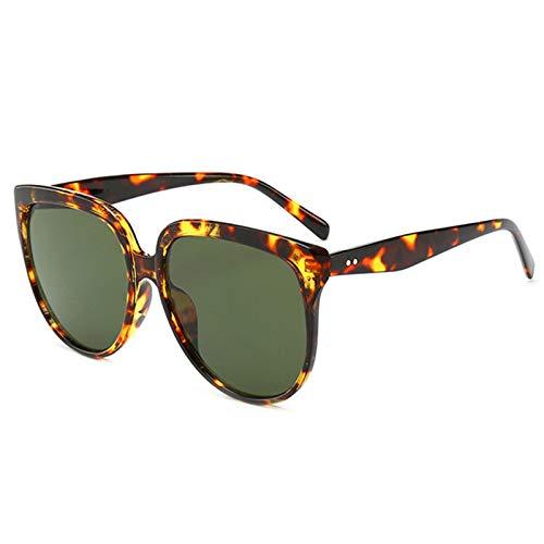 Lopbinte Katze Augen Sonnenbrille Frauen Retro üBergro?e Sonnenbrille Weibliche Katze Augen Brille Gro?en Rahmen Sonnenbrille (Schildpatt Dunkel GrüN)