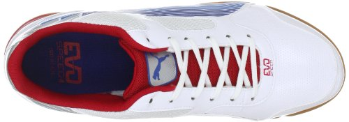 Puma evoSPEED 4 Sala 102604 Herren Sportschuhe - Indoor Weiss (white-limoges-ribbon red 01)