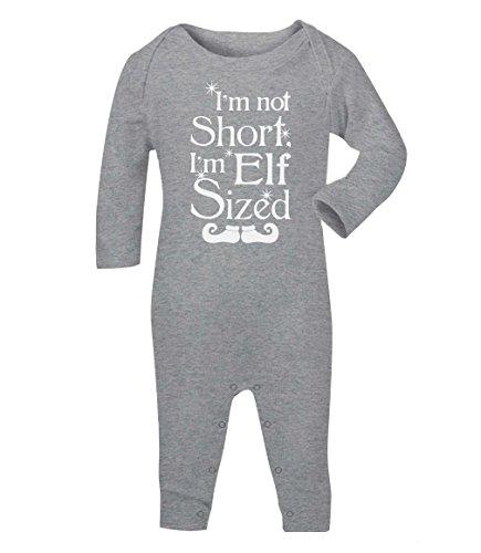 I'm not short I'm elf sized Baby Strampler Strampelanzug 18M Grau