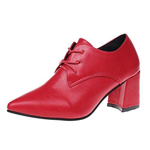 Jamicy Boots Femme Rouge Noir 35 Eu Rouge