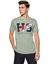 Amazon Brand - House & Shields Men's Printed Regular Fit T-Shirt