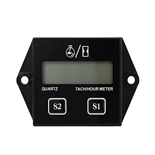 Jayron LCD Gasoline inductive Tachometer Resettable Tach/Hour Meter per Paramotors, Ultraleggero, Marine Motori fuoribordo–Inboards e Pompe, generatori, Mowesr