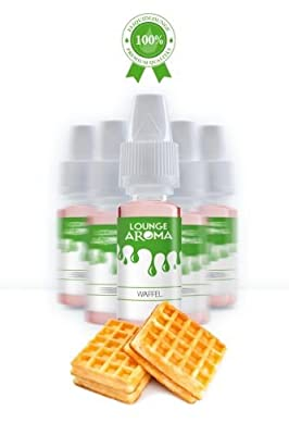 Waffel Lounge Aroma Eliquidlounge 5 x 10 ml / 100 ml PET-Flasche von Waffel Lounge Aroma Eliquidlounge 5 x 10 ml / 100 ml PET-Flasche