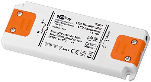 Goobay LED-Transformator; SELV Class II; Konsta, CC-Betrieb 500 mA 0,5-12 Watt