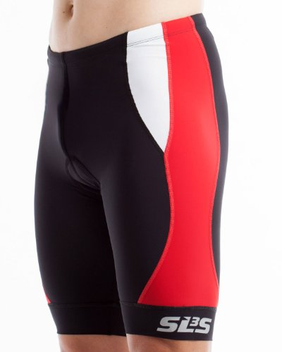 SLS3 FX TRI RACE Shorts, unisex - erwachsene herren, Black/Chili Red/Icy, Small/W28-30