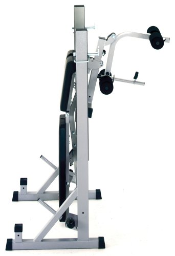 York Fitness Heavy Duty 2 in 1 Barbell Bench Squat Stand | HIIt Fitness