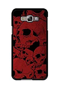Caseque Red Skull Back Shell Case Cover For Samsung Galaxy E7