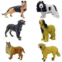 Tootpado German Shepherd, Scotch Collie Retriever Dog Realistically Detailed Animal Figure Toys - Pack of 6