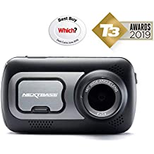 NEXTBASE 522GW Series 2 Car Dash Camera Full 1440p/30fps HD DVR Cam 140° Wide Viewing Angle WiFi and Bluetooth Alexa Compatible GPS Polarising Filter Black (Refurbished)
