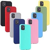 XinYue 9 x Funda iPhone 11, Cárcasa Silicona TPU, Funda Ultra-Delgado Flexible - [ Negro + Rojo + Rosa + Verde + Translúcido + Amarillo + Azul Claro + Verde Claro + Rosa Claro ]