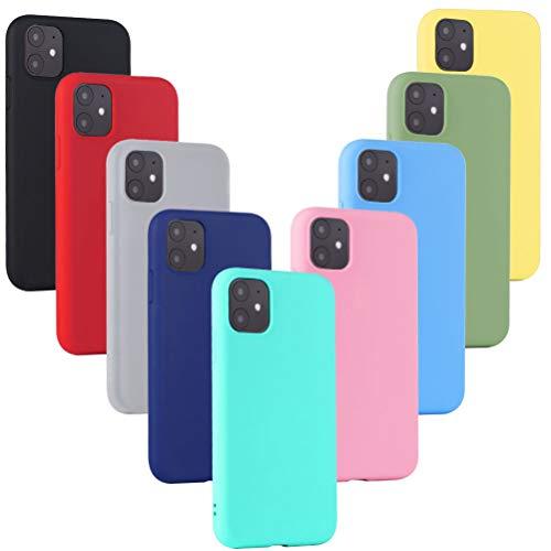 Leathlux 9 x Funda iPhone 11 9 Unidades Caso Juntas Fina Silicona