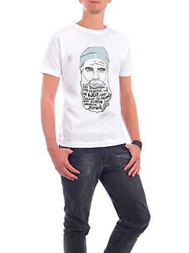 """Design T-Shirt Männer Continental Cotton """"Heimathafen"""" - stylisches Shirt Typografie Städte / Hamburg Reise Reise / Strand und Meer Menschen von Philine Ernstorfer Weiß"""