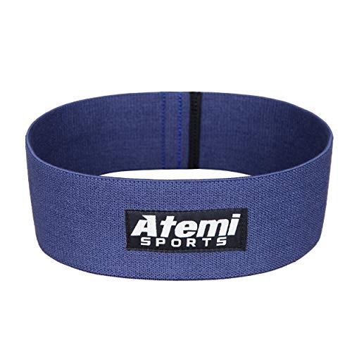 Atemi Sports Widerstand Glute Band/Hip Band | Fitnessband für Gesäßmuskeln mit Workout Guide | Widerstandsband ideal für Bein- und Po-Training (Blue, M/L)
