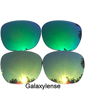 Galaxy lentes de repuesto para Oakley Garage Rock oro y verde Color Polarizados 2 Pares