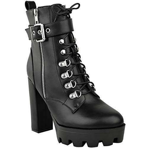 Fashion Thirsty Damen Ankle Boots mit Plateausohle & -