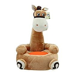 Sweety Toys 7011 EDDI Kinder Sitzkissen Sitzsack -braunes Pferd