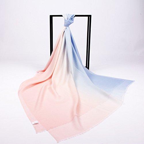 jiaminmin Femmes Foulards Pure Laine Laine Soie Coton Velours Automne et Hiver Style Plain Couleur Plus Chaude châle épaississent Wrap épaule