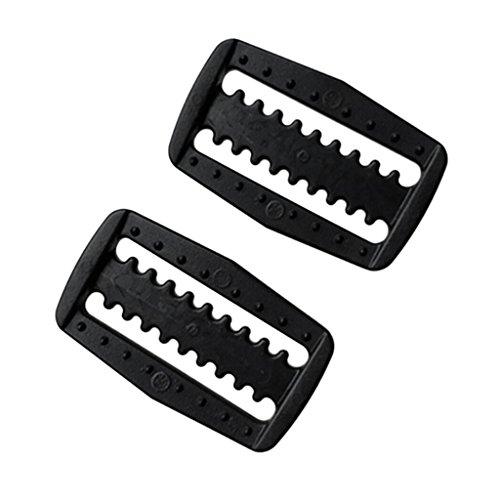 Dolity 2 Stück Kunststoff Gewicht Gürtel Gurtband Schieber Gurtschieber Gurtversteller Für Tauchen - Schwarz