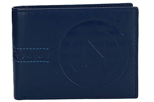 627bdfd437 Portafoglio uomo SSC NAPOLI blu in pelle con patta e portamonete VA1089