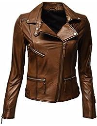 Giacca Donna Pelle it Marrone Donna Amazon 48 Abbigliamento 6gqpxvt