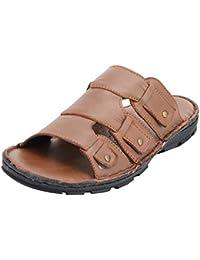 Rojyo Men's Black Leather Outdoor Sandals- sandal gladiator Sandals flip Flops platform Sandals black Sandals ... - B073VFGSB9