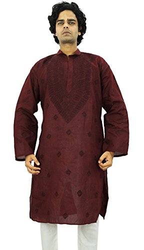 Indian Traditional Ethnic Männer Designer Kurta Casual Wear Chikan Kurta Geschenk für Männer (Kurta Chikan)