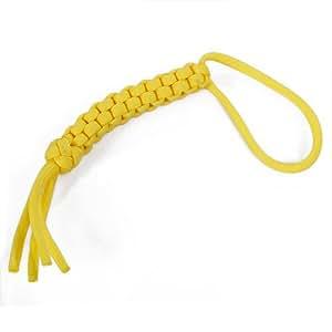 Lanière de Couteau en Paracord(corde de parachute) Tissage Carrée Jaune --Décoration de Couteau,Lampe de poche, Porte-clés,etc.