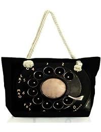Snoogg Vintage Phone Women Anchor Messenger Handbag Shoulder Bag Lady Tote Beach Bags Blue