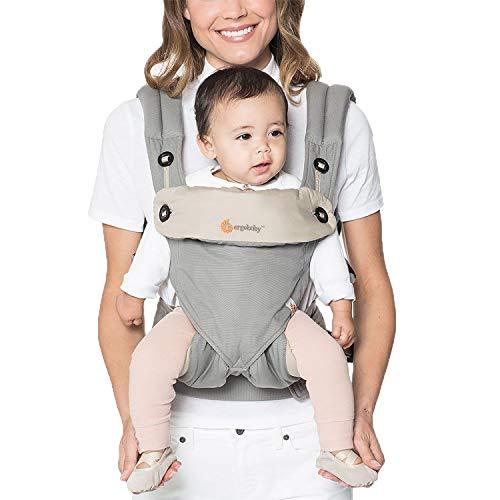 Ergobaby Babytrage Kleinkind bis 3 Jahre, 360 4-Positionen Baby-Tragetasche Grau, Rückentrage Bauchtrage