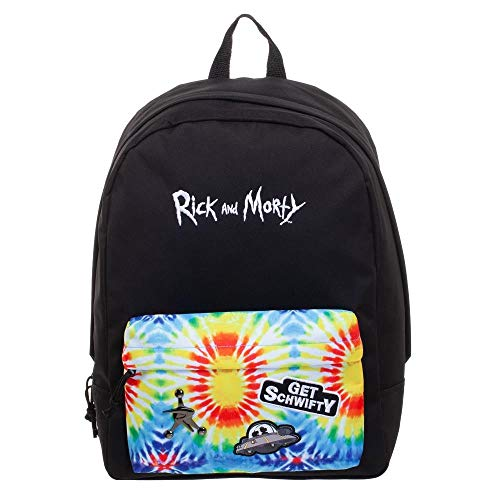 Rick and Morty Tye Dye Mochila - Rick and Morty Inspirado Tye Dye Bolsa