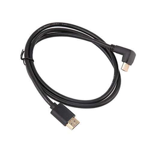 Preisvergleich Produktbild Schwarz Durable 1 M 1, 8 M 3 Mt 5 Mt Flachkabel High Speed HDMI Kabel Mit 90 Grad Winkel Unterstützt für PS3 PS4 TV DVD Player - Schwarz 1 mt