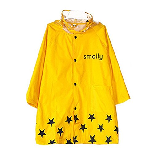 LOSORN ZPY Mädchen Kinder Regenmantel mit Kapuze Wasserdicht Jacke Regenmantel