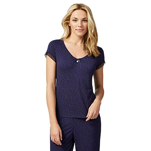 j-by-jasper-conran-womens-navy-spot-print-short-sleeve-pyjama-top-18