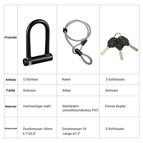 Antifurto lucchetto Alta intensit/à antifurto Impedire il taglio Resistenza idraulica Montagna bicicletta lucchetto /— OUTERDO Lucchetto Bici