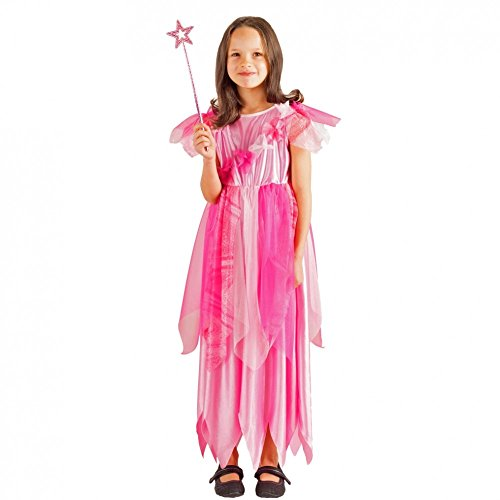 Krause & sohn costume da bambina rosa fairy jasmine, dimensioni 104, 116, 128, vestito da fiaba del carnevale della principessa (128)